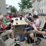 Die Gruppe bei einer Rast in Ehningen