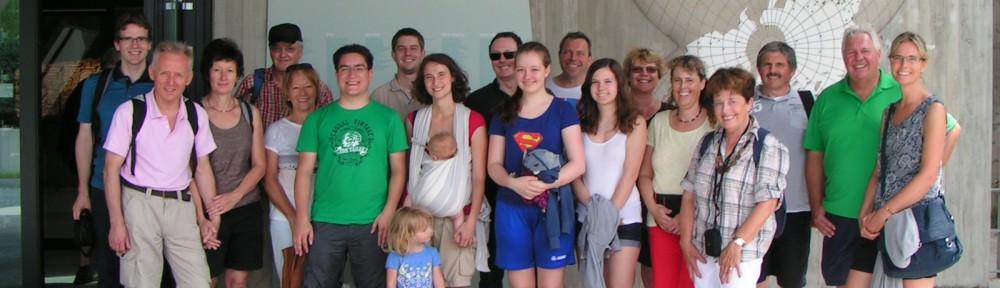 Gruppenbild vor der Grube Messel.