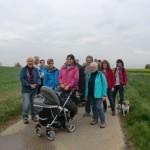 Gruppenfoto auf den Feldern